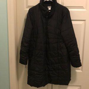 Motherhood Maternity L Winter Coat Black